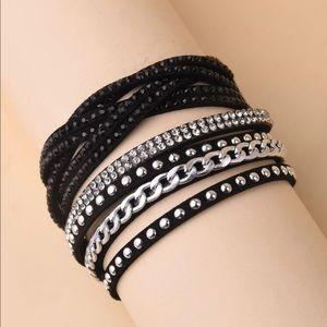 🔥3/$25🔥Rhinestone Decor Woven Wrap Boho Bracelet